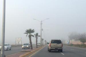 En algunos sectores de la ciudad la neblina se presentó más intensa.