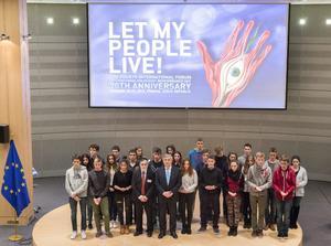 El vicepresidente del Parlamento Europeo, Antonio Tajani, encabezó la celebración del Día Internacional en Recuerdo al Holocausto en la sede de la institución, en Bruselas.
