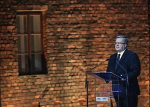 El presidente de Polonia, Bronislaw Komorowski, se unió a los eventos de conmemoración con un emotivo discurso.