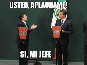 Los memes relacionaron el reciénte nombramiento de Virgilio Andrade, como titular de la Secretaría de la Función Pública con la falta de aplausos al presidente.