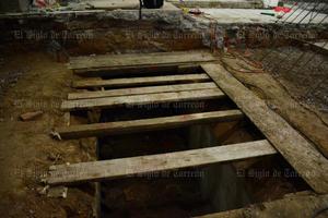 José Quiñones dijo que probablemente se trate de un sótano ya que cuenta con escaleras.