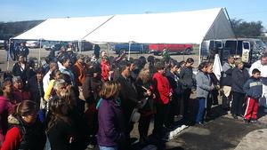 Aproximadamente un centenar de personas asistieron al noveno memorial de Pasta de Conchos.