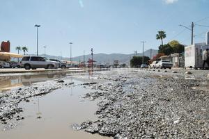 6 de febrero | Daños. A causa de la intensa lluvia, el pavimento de la ciudad sufrió un severo daño del 60 por ciento, según la Junta de Mejoras Materiales de Torreón.