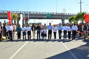 10 de noviembre | Obra. Entregan a la ciudadanía el paso superior Periférico-Bravo en el que se invirtieron recursos por 100 millones de pesos del Fondo Metro.