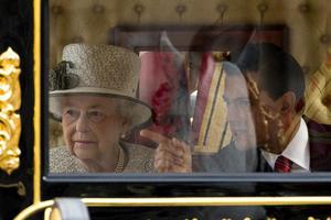 El desfile pasó por la avenida del Mall hasta el palacio de Buckingham.
