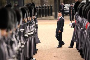 La ceremonia oficial tuvo lugar en el Pabellón real del Horse Guards Parade.