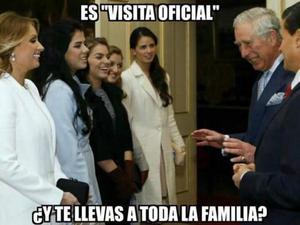 Los tuiteros han criticado que el presidente y la primera dama realizaran la visita oficial acompañados de todas sus hijas.
