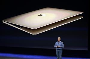 Apple presentó una nueva MacBook de color dorado.