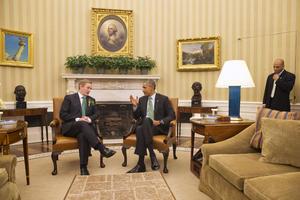 En el marco de la celebración, el presidente Barack Obama se reunió con el Primer Ministro irlandés, Enda Kenny.