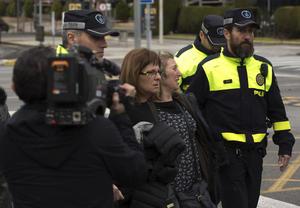 El aeropuerto de Barcelona también empezó a recibir a quienes buscaban información sobre los pasajeros.