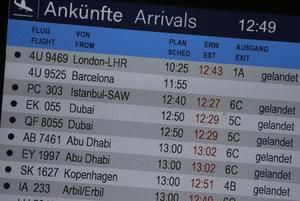 El informe de vuelos muestra sin estatus al que se transportaba entre Barcelona y España.