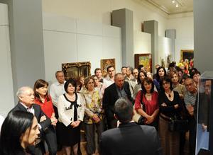 Son sesenta obras procedentes de talleres de artistas europeos de los siglos XIV al XVIII.