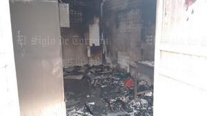 El fuego afectó sólo el área de lavandería.
