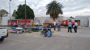 Alrededor de las seis de la mañana fue evacuado el Hospital General de Matamoros por un incendio en el área de lavandería.