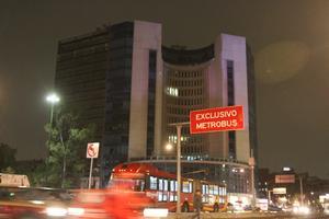 El Distrito Federal apagó las luces de algunos de sus edificios.