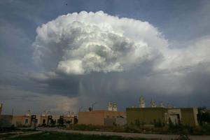 Desde las 18:00 horas se comenzó a observar el fenómeno desde el centro de Gómez Palacio hasta el oriente de Torreón.