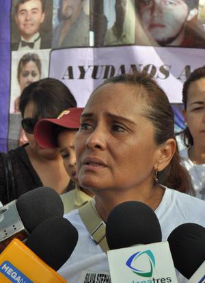 Silvia Ortiz de Sánchez Viesca, madre de la desaparecida Fanny, dijo que las desapariciones siguen en el estado.