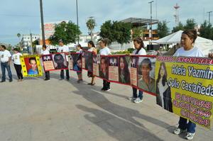 Las manifestantes se plantaron en la Plaza Mayor por un par de horas.