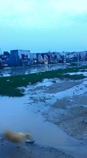 El tornado se registró en la parte alta del sector poniente de la ciudad.