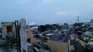 Graves afectaciones se pueden apreciar tras el tornado en Ciudad Acuña.