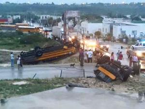 En la madrugada se registró un tornado en la zona sur poniente de Ciudad Acuña.