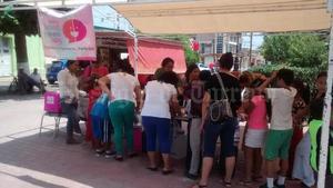La casilla infantil en la plaza principal de Matamoros tuvo gran participación.