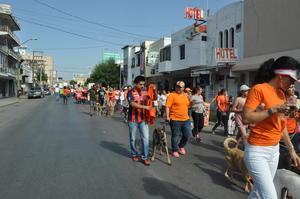 Cerca de mil personas se sumaron a la marcha en Pro de los Derechos de los Animales en Torreón.