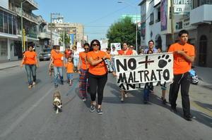 A las 10:00, partieron con destino al Paseo Colón, algunos acompañados por sus mascotas y otros más con pancartas en las que exigían un alto al maltrato animal.