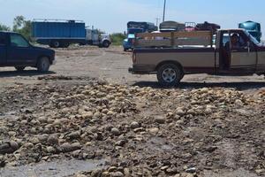 Campesinos de Matamoros tiraron al menos 200 toneladas de melón como una medida desesperada por la caída del precio.