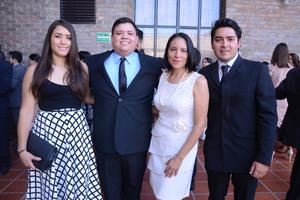 Blanca, Omar, Flor e Iván.