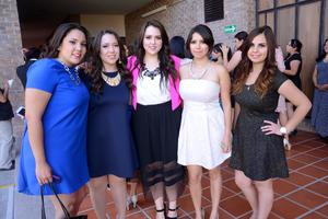 Claudia, Pamela, Lety, Cristy y Vanessa.