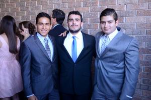Rodrigo, Eugenio e Iván.