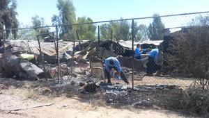El fuego se produjo en el cerco de malla ubicado al poniente del lugar administrado por la Asociación Cultural Impulsora de Bienestar Social A.C.