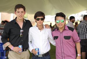 Antonio, Daniel y Rubén.
