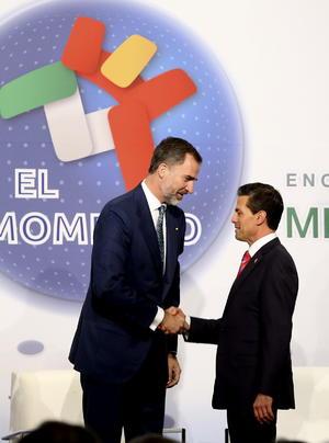 El martes por la mañana, asistieron al inicio del Encuentro Empresarial España-México celebrado en un hotel de la Ciudad de México.
