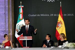 Más tarde el mismo lunes, Peña Nieto ofreció un almuerzo a los reyes.