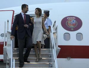 Los monarcas arribaron el pasado domingo al Aeropuerto Internacional Benito Juárez, de la Ciudad de México.