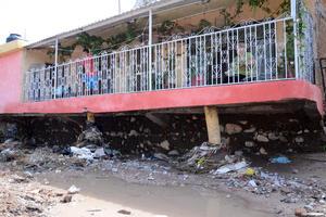 Varias viviendas sufrieron daños.