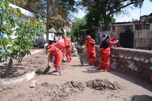 Se trabaja ya en el desagüe y la limpieza de las calles.