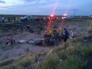 El percance se registró aproximadamente a las 19:06 horas a la altura del kilómetro 17 de la autopista Torreón-Saltillo, tramo Matamoros-La Cuchilla.