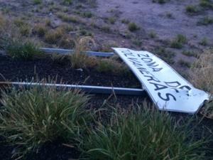 El aterrizaje se pretendía realizar en una cuneta de terracería ubicada entre los dos cuerpos de la autopista Torreón-Saltillo.