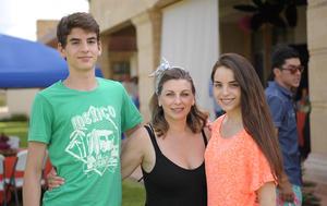 José Manuel, Astrid e Isabella.