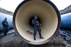 Los agentes han inspeccionado tubería de drenaje que había en los alrededores.