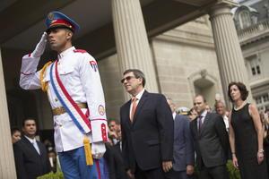 El acto estuvo encabezado por el canciller cubano, Bruno Rodríguez.