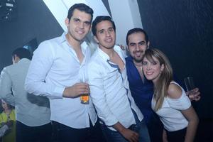 Jaime, David, Jaime y Valeria.