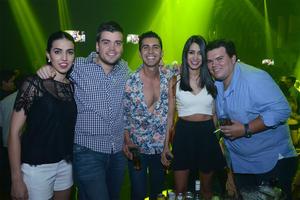 Miriam, Ernesto, Carlos, Bedia y Miguel.