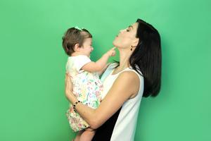Sandra Destenave con Luciana 5.