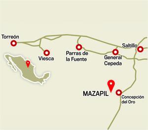 Los hechos ocurrieron en Mazapil, Zacatecas, a 155 kms. de Saltillo, Coahuila.