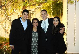 Carlos, Alicia, Juan Carlos y Adriana