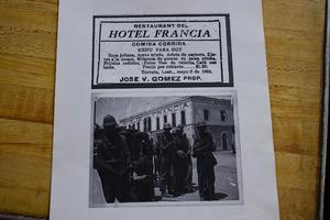 """Cuenta que en dos ocasiones Pancho Villa acudió a su bar, """"en 1914 y regresó en 1916; venía a seguir su revolución y venía a saber cuánta gente se adhería a él para seguir con la revolución""""."""